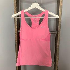Nike Pink Athletic Bra Tank Top